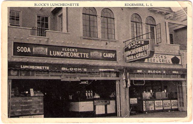 Block's Luncheonette, Edgemere Long Island