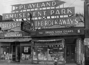 Rockaway Beach Boulevard - 95th Street (No date-though whenever this was, you could get a 45 cent steak)