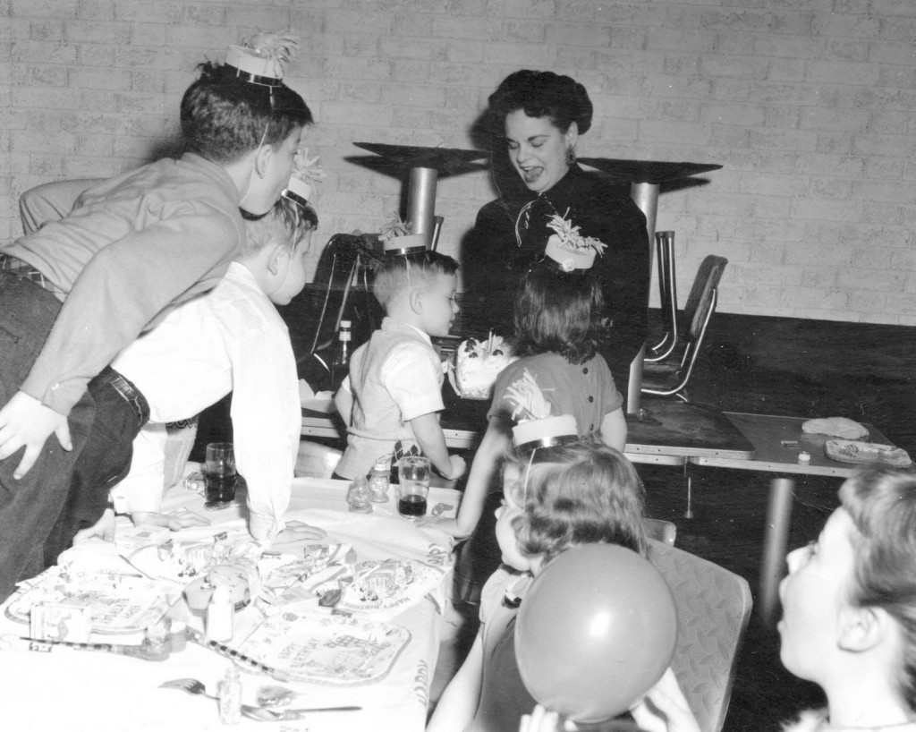 A birthday at the Pickwick. (Central Ave. Far Rockaway) 1958 — with Mom.