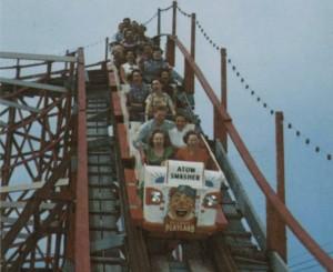 Rockaway Playland (1970)-Atom Smasher Roller-coaster
