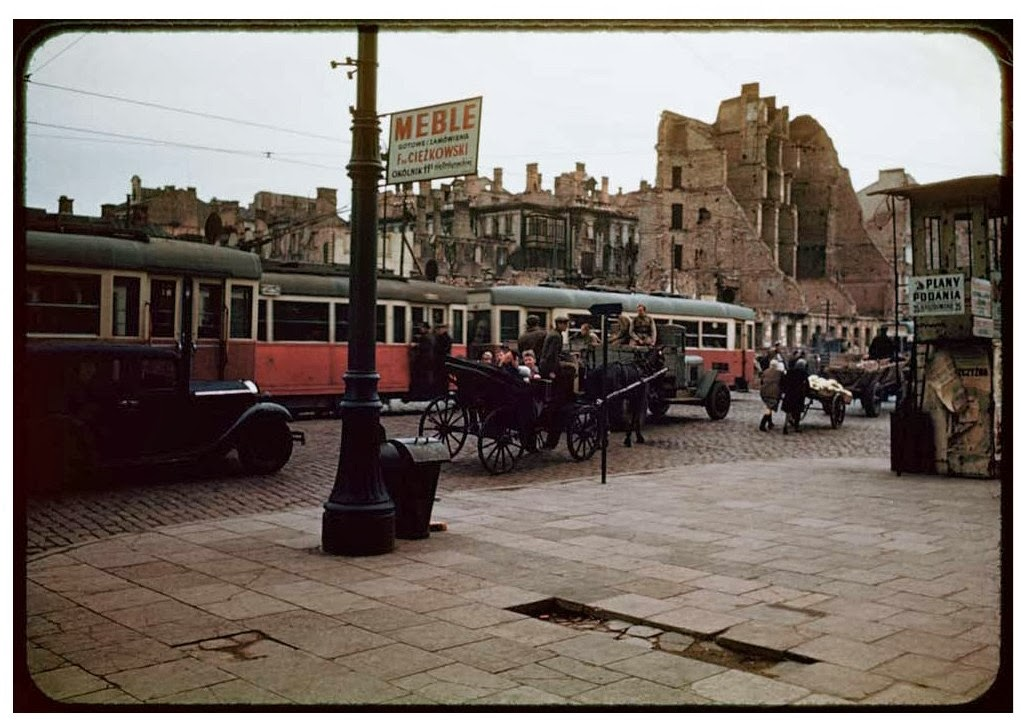 Warsaw after World War II, in August 1947 (27)