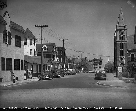 1954 St Rose. Notice the Hammel Houses were still under construction —