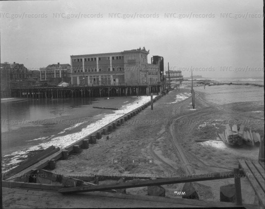 February 1926 Facing Beach 67th. First Building Was Arverne Pier Danse Movie Palace. NYC Archives Photo