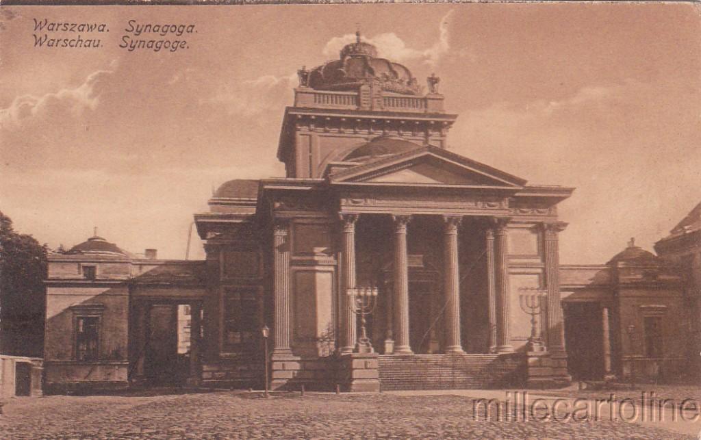 JUDAICA - Poland, Warsaw - Synagogue 1917