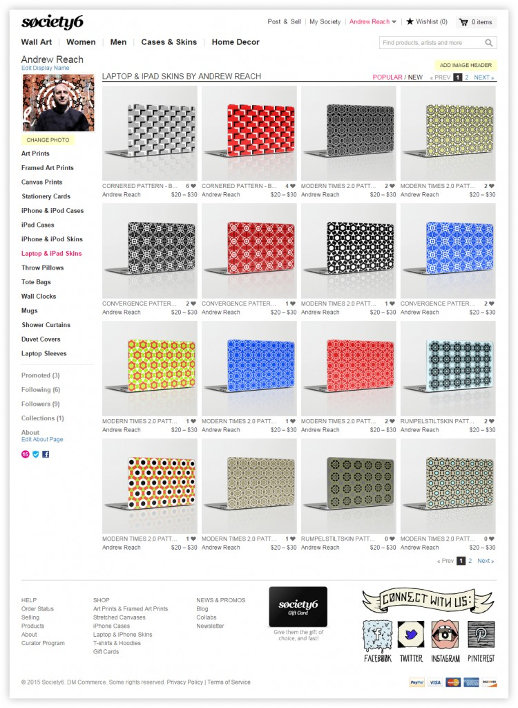 society6_IPadSkins_screenshot