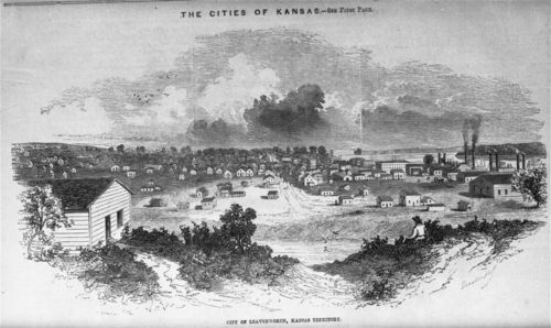 LeavenworthKansas_FrankLesliesNewspaperIllustration_1858